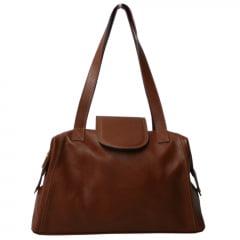 Bolsa de viagem em couro caramelo Nancy Allegra
