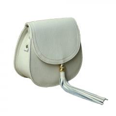 bolsa de couro pequena branca