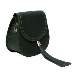 bolsa de couro pequena verde