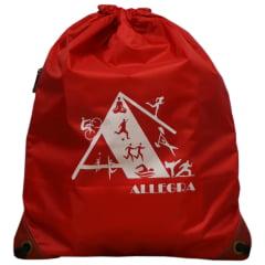 mochila saco vermelha
