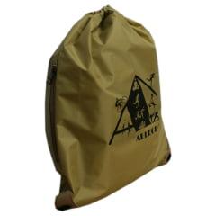 mochila saco dourado