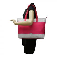 Bolsa de praia Evolution pink