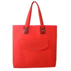 Bolsa de praia vermelha com bolso