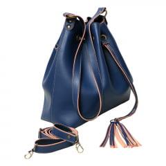 Bolsa saco transversal azul Calle