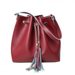 Bolsa saco transversal vermelha Calle