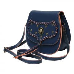 bolsa feminina trançada azul