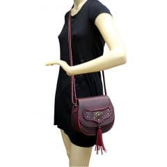 bolsa feminina trançada cafe