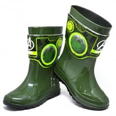Bota Galocha Menino Holográfica Hulk Verde Grendene 21767