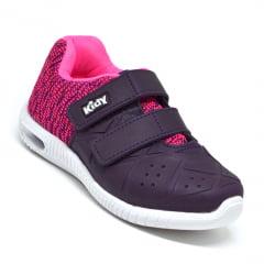 Tênis Infantil Menina Kidy Uva Pink Original 0341042 K4