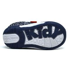 Tênis Infantil Menino Kidy Azul Laranja 0080438 K14 Original