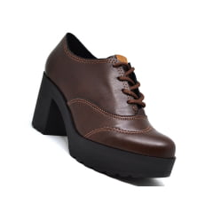Sapato Feminino Oxford Tratorado Salto Grosso Moleca 5647