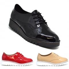 Sapato Feminino Oxford Verniz Tratorado Beira Rio 4174