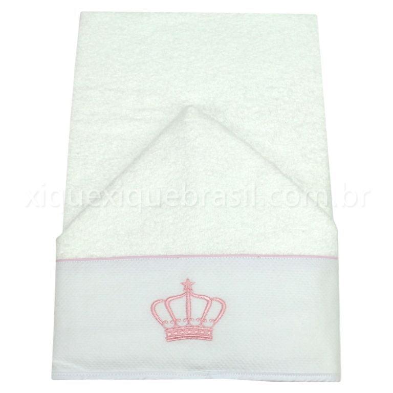 Toalha de Banho Capuz Buddemeyer Coroa Rosa