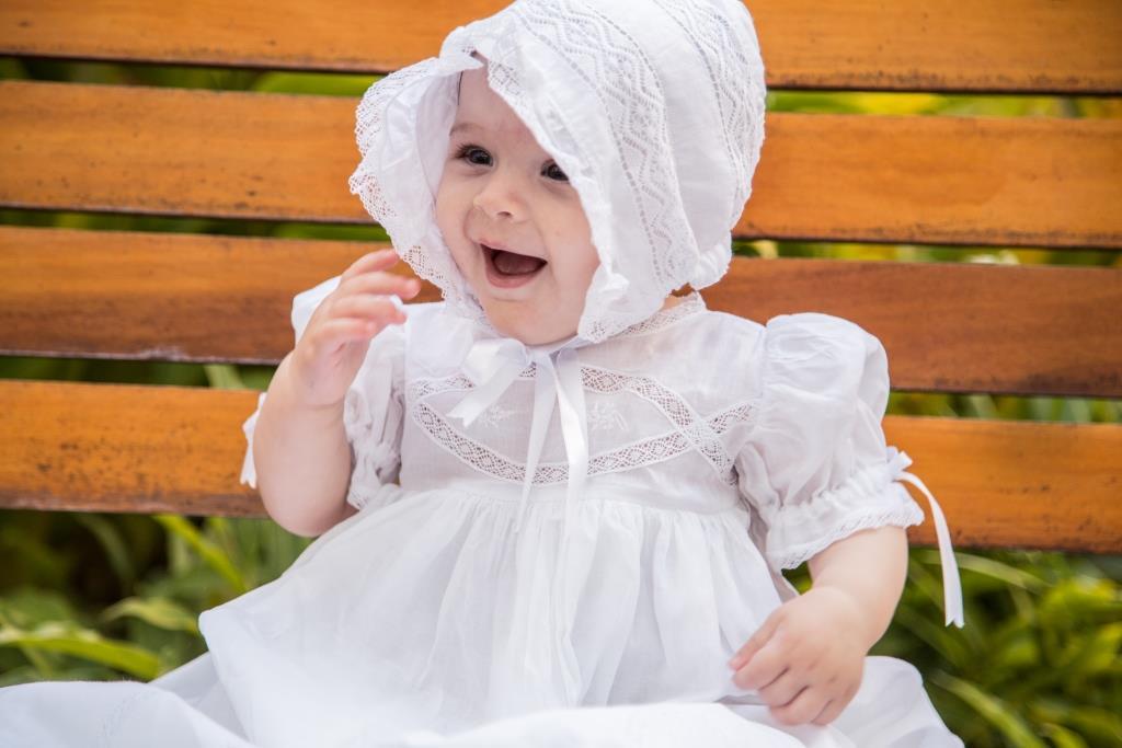 Mandrião e Touca Batizado Renda Algodão [Kit]