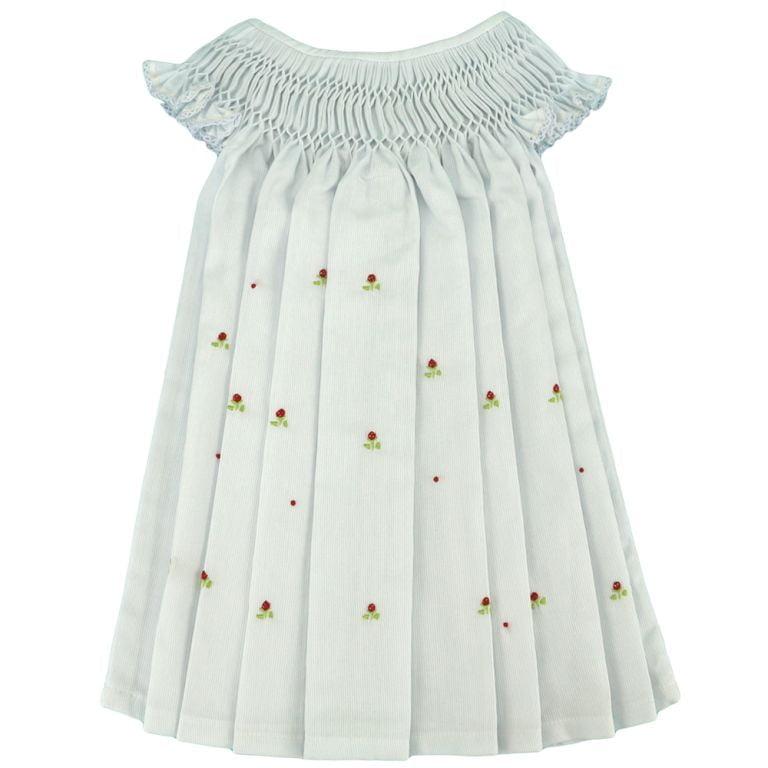 Vestido Casinha de Abelha Branco Moranguinho  (24 meses)