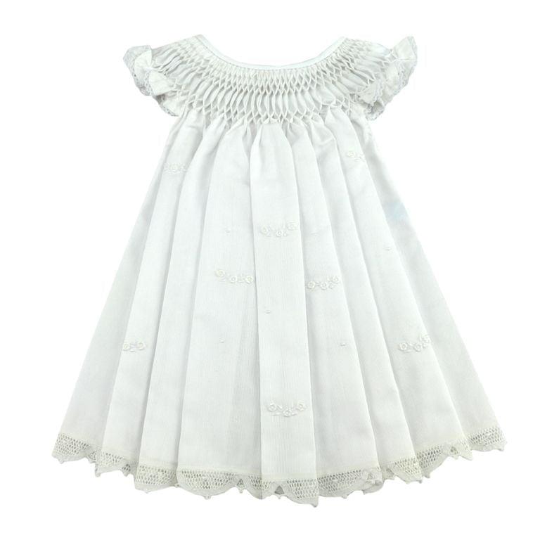 Vestido Casinha de Abelha Renda Renascença - 6 a 9 meses