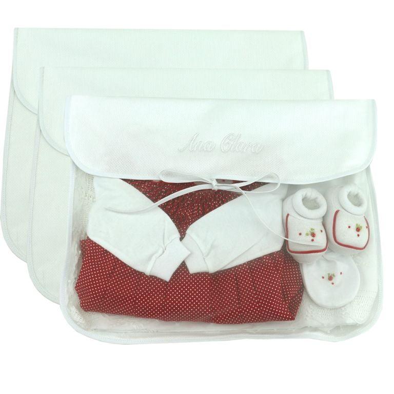 Saco Maternidade Personalizado Branco (até 2 nomes) - 3 unidades