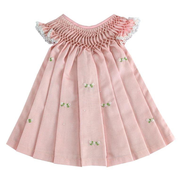 Vestido casinha de abelha rosa (12 e 24 meses)