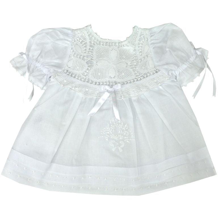Vestido Renda Renascença Três Ordens - 3 meses