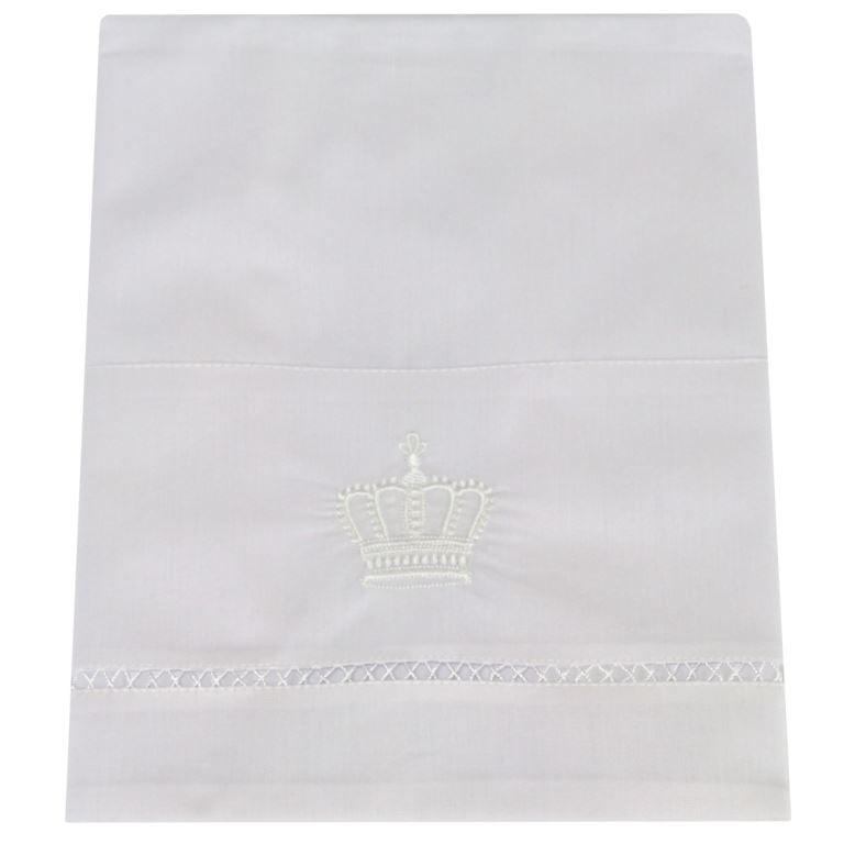 Lençol Xixi Coroa Real Branca