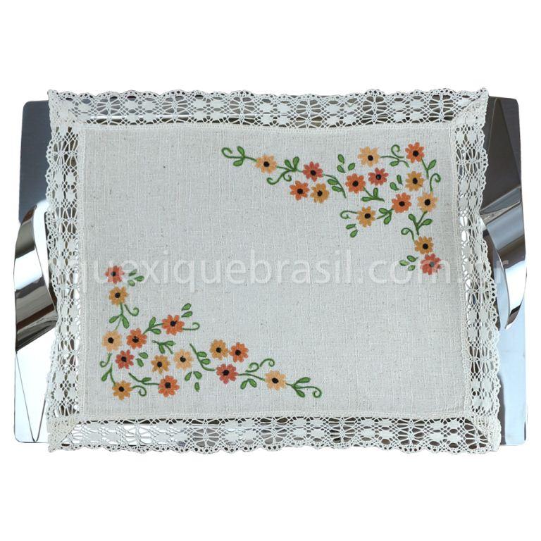 Toalha de Bandeja Cairel Mini Flor Terra