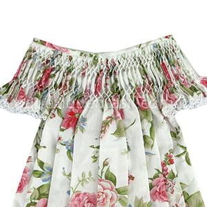 Vestido Casinha de Abelha Off White Floral - 2 anos