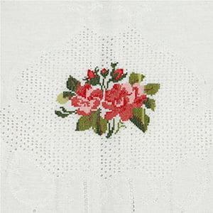 Toalha Lavabo Crivo Rosas