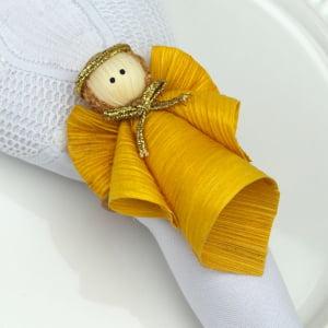 Anjo Porta Guardanapo - Anjo Amarelo