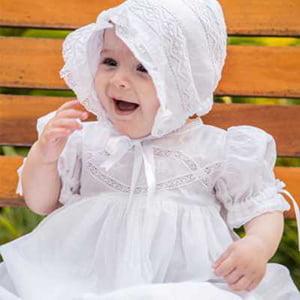 Mandrião Batizado Renda de Algodão Isa