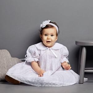Vestido Nesgas Renda Paraíba Maria (RN e 6 meses)
