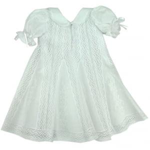 Vestido Nesgas Renda de Algodão Maria (3 e 6 meses)