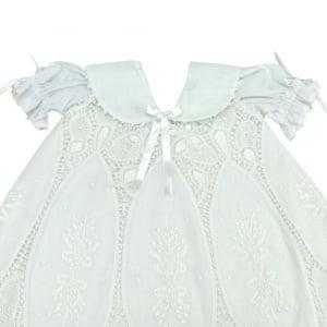 Vestido Renda Renascença Nesga Lágrima - 6 meses