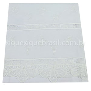 Cueiro Renda Renascença Floral Branco