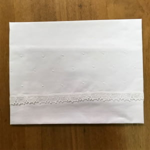 Cueiro Renda Renascença Poá Branco