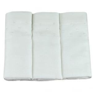 Fralda bordada poá branco (kit 3 unidades)