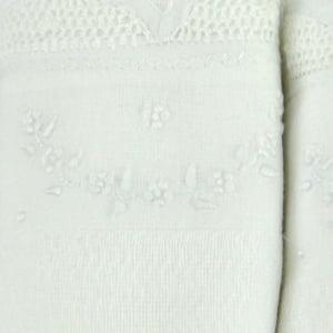 Fralda Renda Renascença Arco Floral Branca (kit 3 unidades)