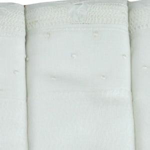 Fralda renda renascença poá branco (1 unid.)
