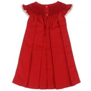 Vestido Casinha de Abelha Vermelho - 2 anos
