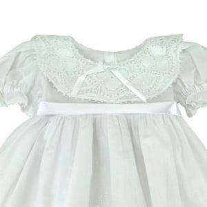Vestido Renda Renascença Maitê (RN e 12 meses)