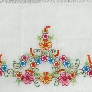 Fralda Richelieu Floral Colorido