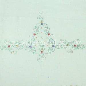 Jogo Lençol para Berço Bordado Floral Colorido (2 peças)