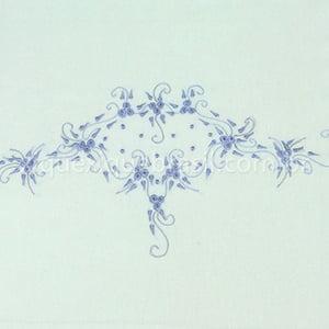 Jogo Lençol para Berço Bordado Richelieu Azul (2 peças)