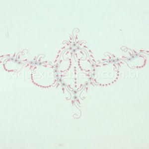 Jogo Lençol para Berço Bordado Floral Rosa (2 peças)
