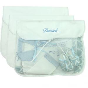 Saco Maternidade Personalizado Azul (até 2 nomes) - kit com 3 unidades