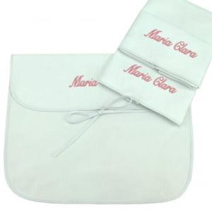 Saco Maternidade Personalizado Rosa (até 2 nomes) - kit 3 uniddes
