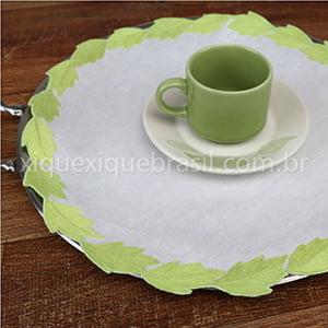 Toalha de Bandeja Cairel Redonda Verde