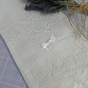 Toalha Renda Renascença medalhão branco/branco (grande)