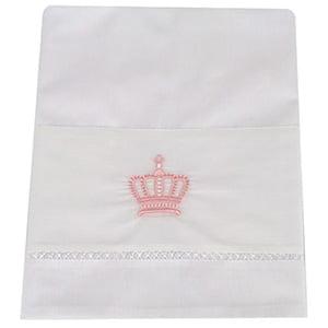 Lençol Xixi Coroa Real Rosa