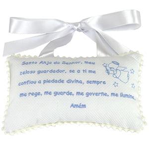 Almofada Oração Anjo da Guarda Azul