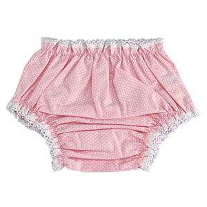 Calcinha poá rosa e branco